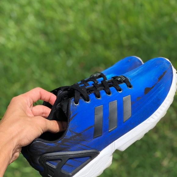 Víspera camioneta Envío  adidas Shoes | Torsion Zx Flux Beach Print Blue Mens 10 | Poshmark